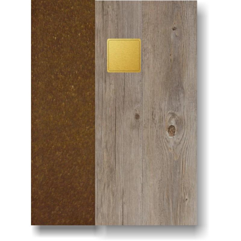 Portamenù in simil legno e cuoio mod. Pecan SMART A4