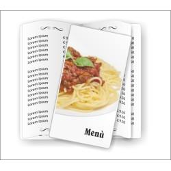 Porta menù Trattoria 02 Slim Transparent