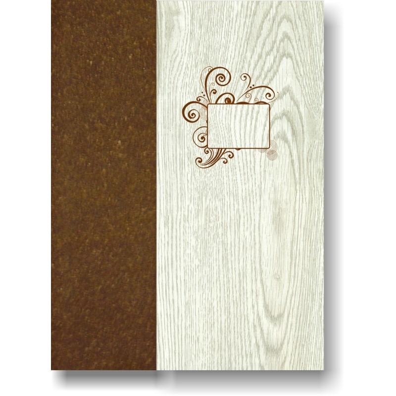 Portamenù in simil legno e cuoio mod. Panarea SMART A4
