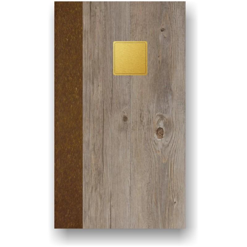 Portamenù in simil legno e cuoio mod. Pecan SLIM