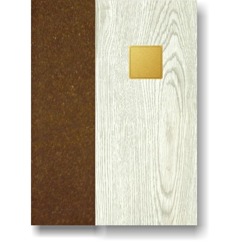 Portamenù in simil legno e cuoio mod. Rieti Smart A4