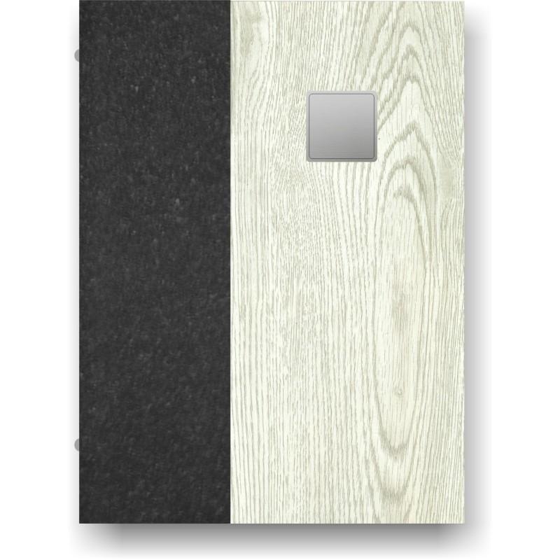 Portamenù in simil legno e cuoio mod. Terni Smart A4