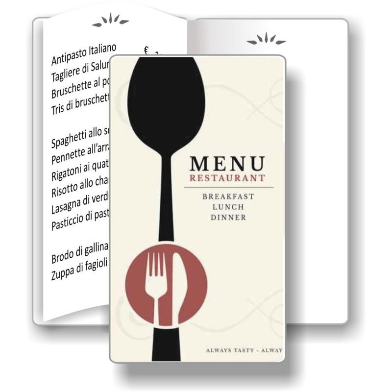 Porta menù personalizzabile Ristorante 05 Slim Transparent