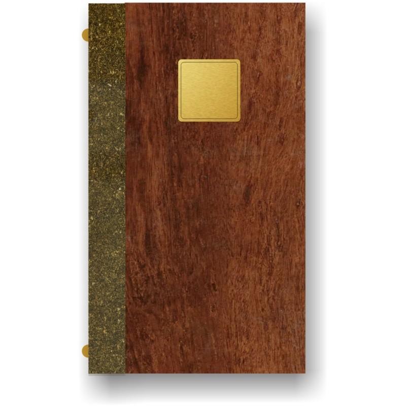 Portamenù in simil legno e cuoio mod. Lugano Quire