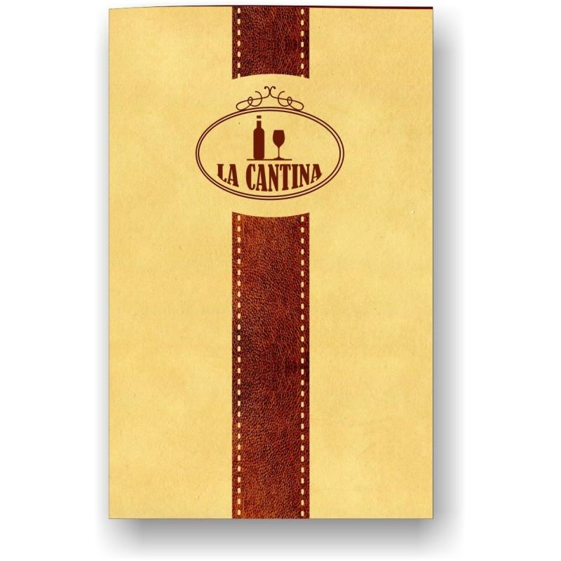 Porta carta dei vini in pelle mod. Soft touch 06 43 Cuoio