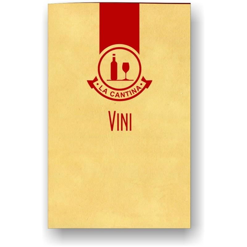 Porta carta dei vini in pelle mod. Soft touch 08 A042 Rosso