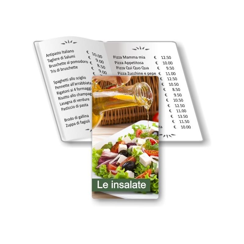 Porta menù pesonalizzabile  Insalateria 06 Transparent formato SLIM