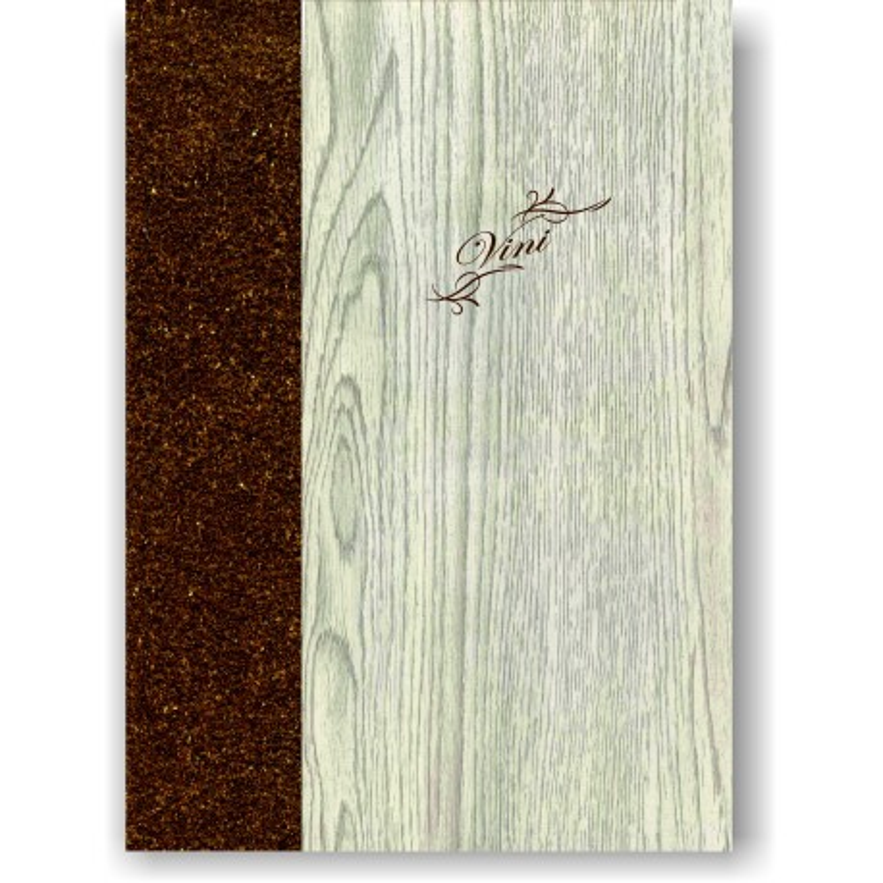Porta carta dei vini in simil legno e cuoio mod. Napoli Smart A042 83 marrone