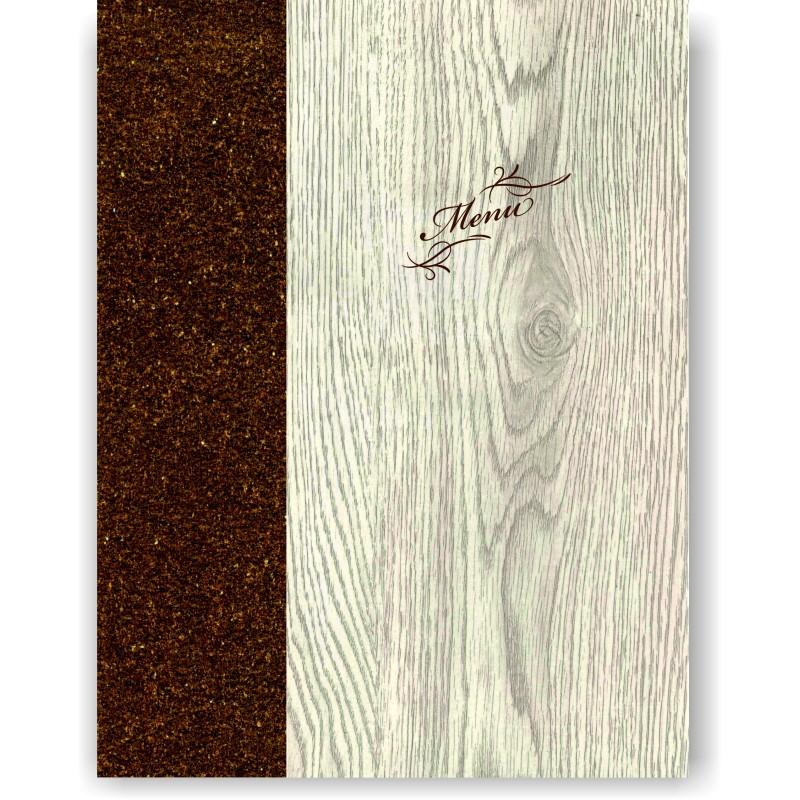 Portamenu' in simil legno e cuoio mod. Napoli Smart A012 83 marrone