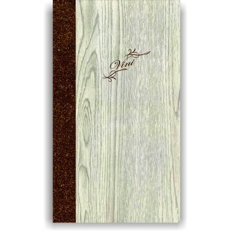 Porta carta dei vini in simil legno e cuoio mod. Napoli Slim A013 83 marrone