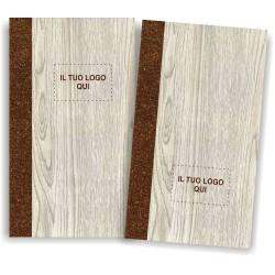 Portamenu' personalizzabile simil legno e cuoio mod. Napoli Slim A00P 83