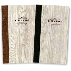 Porta menu' in simil legno e cuoio mod. Napoli Slim A009 83