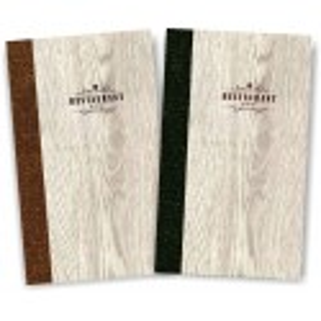Portamenù in legno rovere e cuoio mod. Napoli Slim A022 83