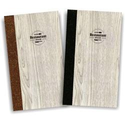 Portamenu' in simil legno e cuoio mod. Napoli Slim A024 83