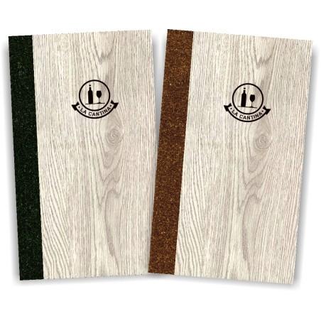 Porta carta dei vini in simil legno e cuoio mod. Napoli Slim A042 83
