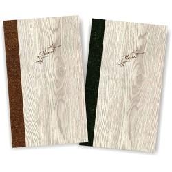Portamenu' in simil legno e cuoio Napoli Slim A012 83