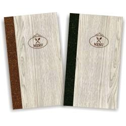 Portamenu' in simil legno e cuoio mod. Napoli Slim A008 83