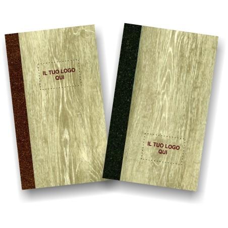 Portamenu' personalizzabile simil legno e cuoio mod. Vieste Slim B00P 83