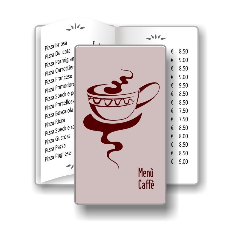 Porta menù personalizzabile  Caffè 08 Transparent formato SLIM