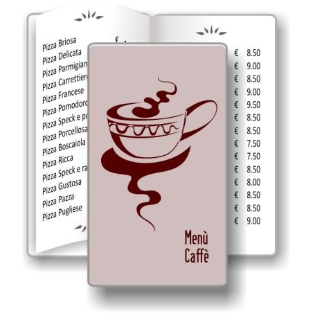 Porta menù Caffè 08 Transparent