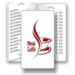 Porta menù Caffè 09 Transparent