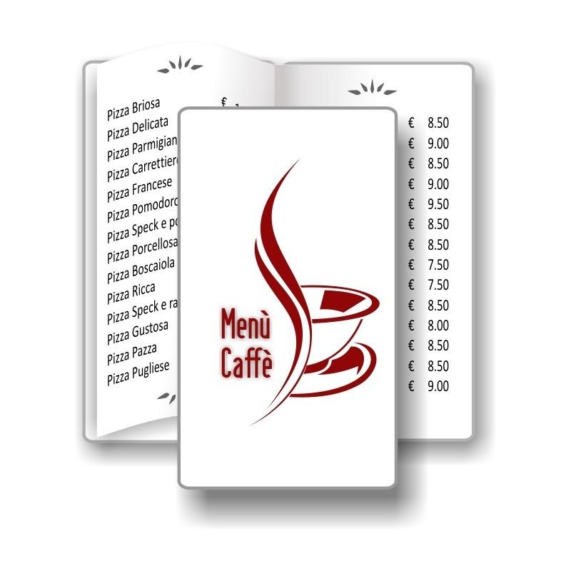 Porta menù personalizzabile Caffè 09 Transparent formato SLIM