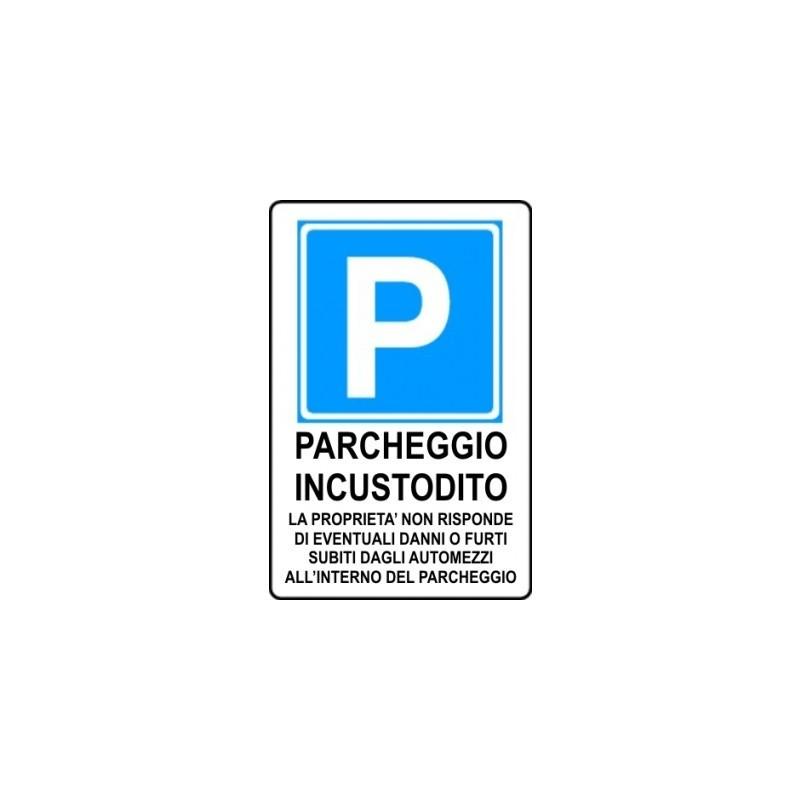Segnale di informazione Parcheggio incustodito