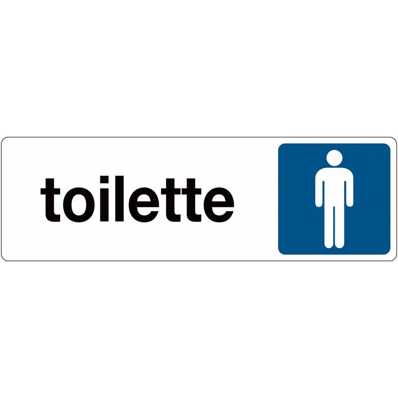 Toilette Uomini adesivo
