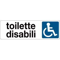 Toilette Disabili adesivo