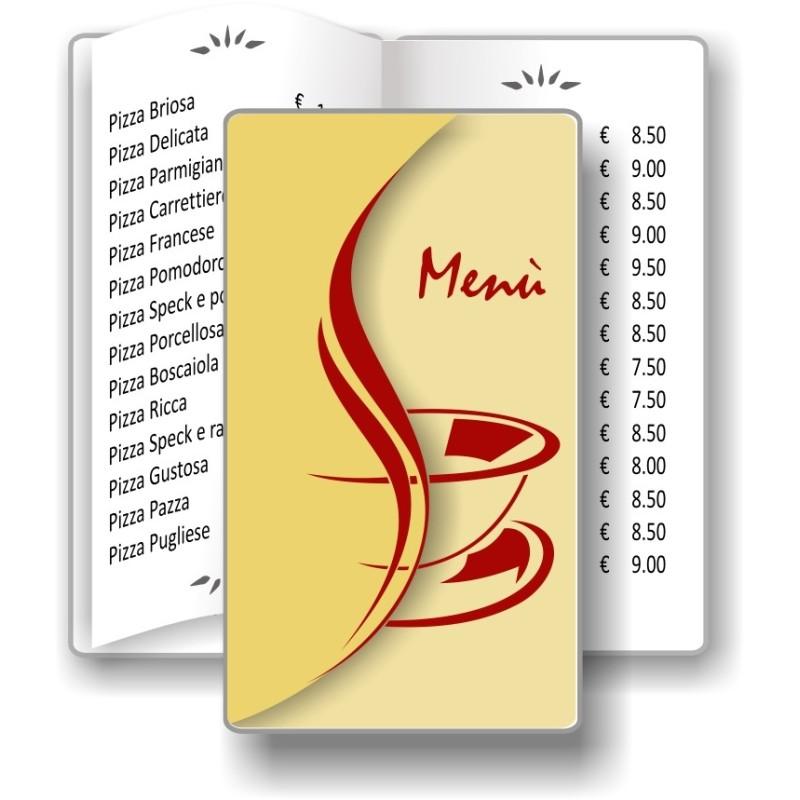 Porta menù personalizzabile Caffè 10 Transparent formato SLIM