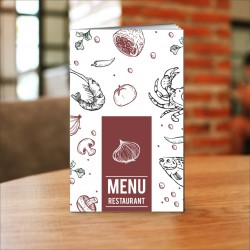 Porta menù ristorante mare SL07