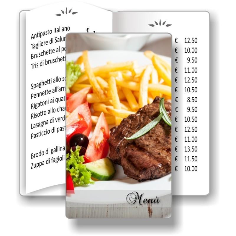 Porta menù personalizzabile per Ristorante 11 formato SLIM