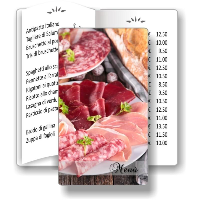 Porta menù personalizzabile Ristorante 12 formato SLIM