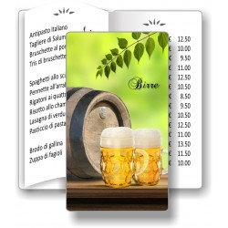Porta menù Birreria 14 Transparent