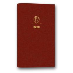 Porta menu in cuoio finitura Vis V005