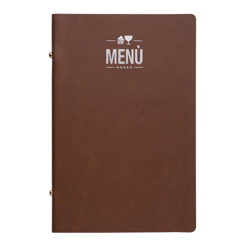 Porta menu linea Erbanew cuoio