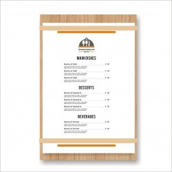 Porta menu in legno Wood
