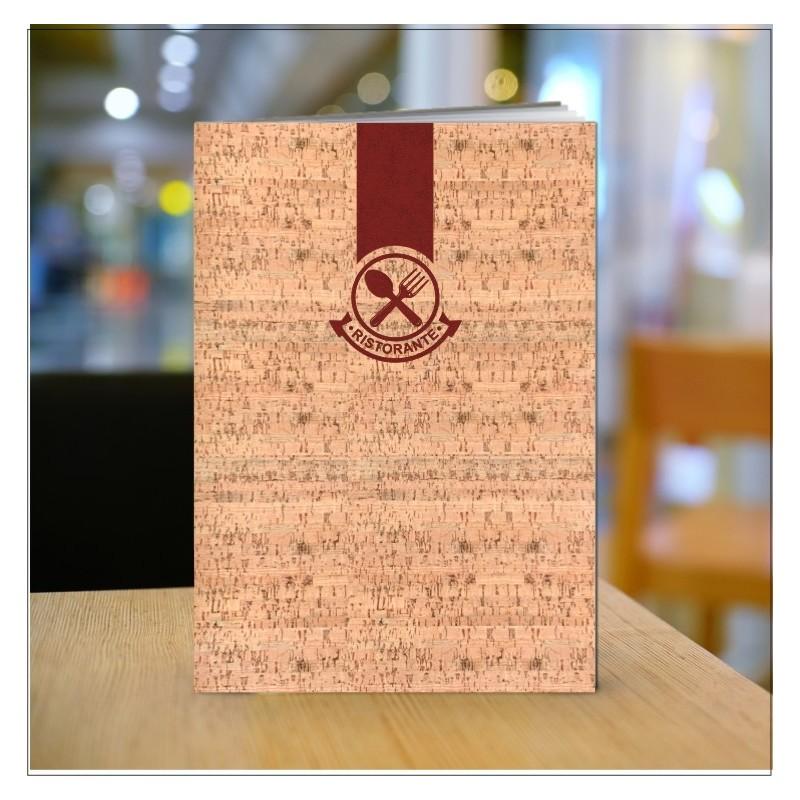 Porta menu in cuoio sughero IB05