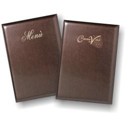 Porta menu e porta carta dei vini coordinati mod. Raster