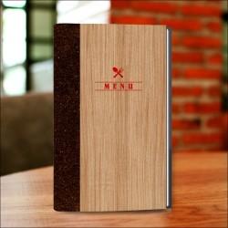 Porta menu legno Betulla ristorante