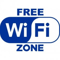 Adesivo WI FI Free Zone