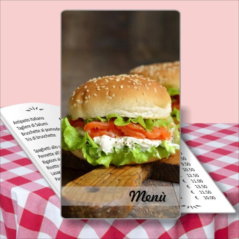 Porta menù personalizzabile per Paninoteca 16 Transparent formato SLIM