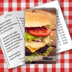 Porta menù personalizzato Paninoteca 17 formato SLIM