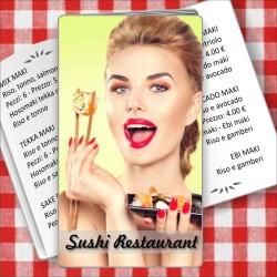 Porta menù Sushi restaurant 01 Transparent