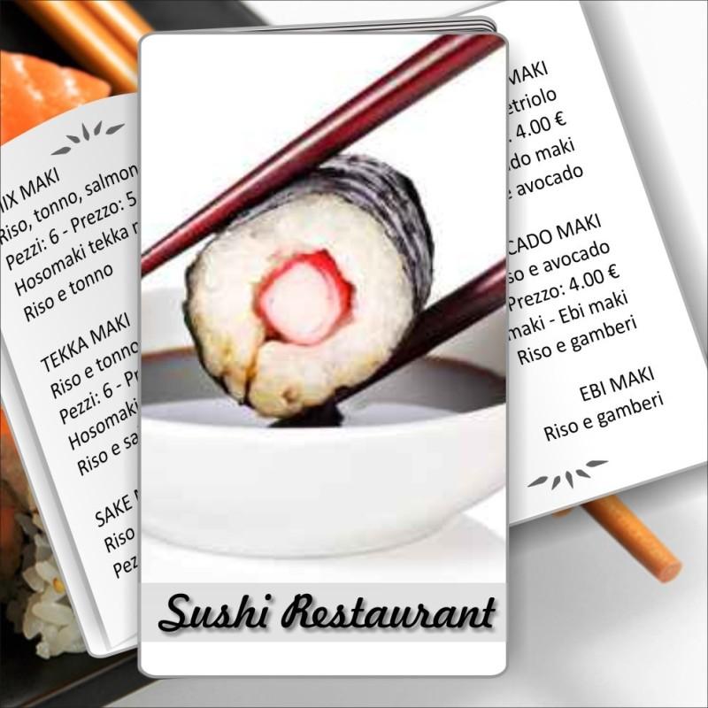 Porta menù Sushi restaurant 02 formato SLIM