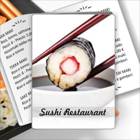 Porta menù Sushi restaurant 02 Transparent