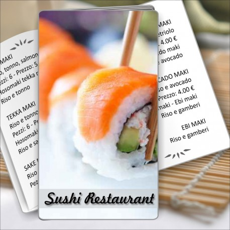 Porta menù Sushi restaurant 03 Transparent