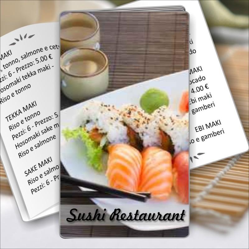 Porta menù Sushi restaurant 05 Transparent