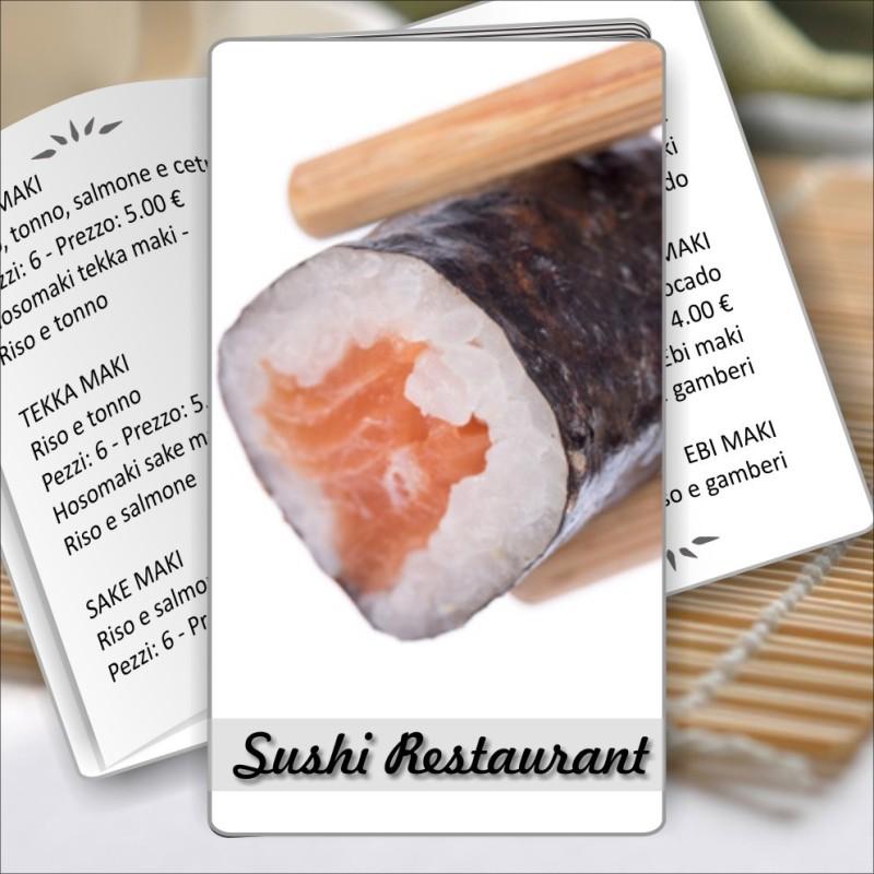 Porta menù Sushi restaurant 06 Transparent