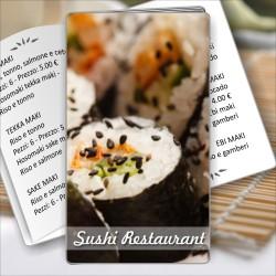 Porta menù Sushi restaurant 07 Transparent